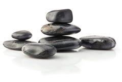 Natural black stones Royalty Free Stock Image