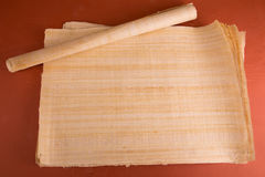 Natural blank Egyptian papyrus Royalty Free Stock Image