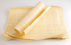 Natural blank Egyptian papyrus Stock Photos