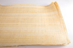 Natural blank Egyptian papyrus Stock Photography