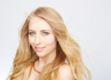 Natural blond beauty Stock Images