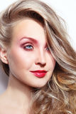Natural blonde beauty royalty free stock images