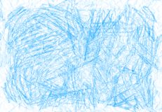 Natural blue abstract pencil texture. For creating of template banners, fashion backdrops and design effects Royalty Free Stock Photos