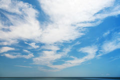 Natural blue cloudy sky background Royalty Free Stock Image