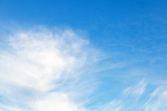 Natural blue cloudy sky background Stock Photography