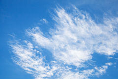 Natural blue cloudy sky, background texture Royalty Free Stock Photos