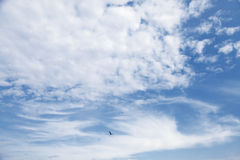 Natural blue cloudy sky, background texture Royalty Free Stock Photo