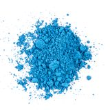 Natural blue colored pigment powder. Composition of natural colored pigments in powder form royalty free stock photos