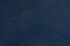 Natural blue leather texture. Abstract background, empty template. Top view stock image