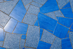 Natural blue pavement ceramic tiles texture for floor, wall or p Royalty Free Stock Image