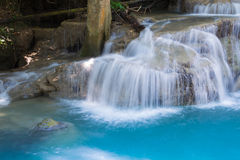 Natural blue stream waterfall Stock Photos