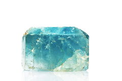 Natural blue topaz crystal Royalty Free Stock Photo