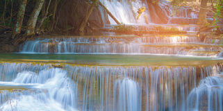 Natural blurred stream waterfall Royalty Free Stock Photo