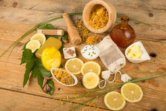 Natural body care still life Stock Image