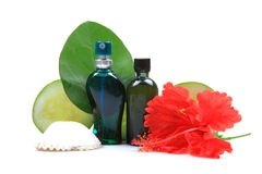 Natural Body Perfume And Oil Bottles Royalty Free Stock Photos