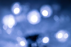 Natural bokeh on blue background Stock Photos
