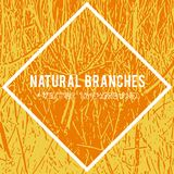 Natural branches vector textured background and eco grunge items for the creation of design banners royalty free illustration