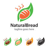 Natural Bread Logo Template Design Vector Stock Images