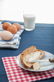 Natural breakfast, rural theme. Colorful breakfast theme, morning concept stock photo