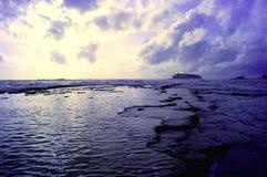 Natural breakwater. Sri lanka natural breakwater arter rain Royalty Free Stock Image