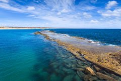 Port Noarlunga natural breakwaters Stock Photo
