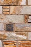 Natural brick stone wall texture background facade surface.  royalty free stock photo