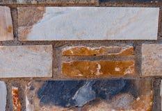 Natural brick stone wall texture background facade surface.  stock photo