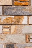 Natural brick stone wall texture background facade surface.  royalty free stock image