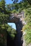 Natural Bridge. Virginia - stone bridge stock photos