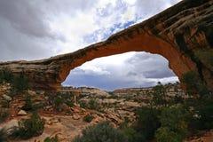 Natural Bridge. Owachomo Bridge in Natural Bridges National Monument, Utah Royalty Free Stock Photos