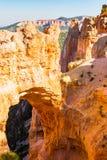 Natural Bridge arch Bryce Canyon. Sun shines on the Natural Bridge Arch at Bryce Canyon National Park Royalty Free Stock Photos