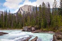 Natural Bridge area of  Yoho National Park, British Columbia, Canada. Royalty Free Stock Image