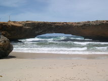 Natural Bridge Aruba stock photo