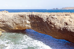 Natural bridge on Aruba Royalty Free Stock Image