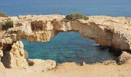 Natural bridge, Cape Greko, Cyprus Stock Images