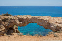Natural Bridge in Cyprus Stock Photography