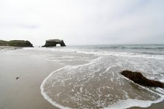 Natural bridge, national park, California. stock image