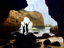 Natural bridge in Portugal Royalty Free Stock Photos