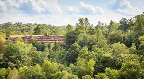 Natural Bridge in Red River Gorge stock photography