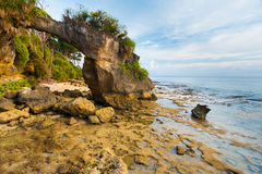 Natural Bridge Rock Arch Landmark Neil Island Stock Image