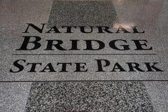 Natural Bridge State Park in Virginia Stock Photos