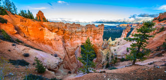 Natural Bridge at Sunset Bryce Canyon Stock Photo