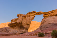 Natural Bridge in Wadi Rum, Jordan Stock Photo