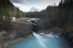 Natural Bridge in Yoho National Park. Natural Bridge, just outside of the city of Field. Field is an unincorporated community of approximately 169 people located Royalty Free Stock Photography