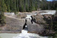 Natural Bridge in Yoho National Park Stock Photos