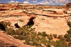 Natural bridges monument. A view of the Natural bridges monument Stock Image