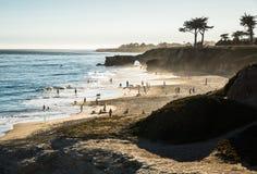 Natural Bridges in Santa Cruz in California Stock Photo