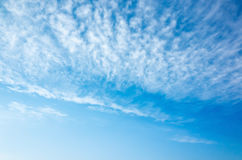 Natural bright blue sky with altocumulus cloud layer Stock Photography