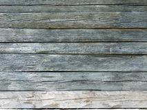 Natural brown barn wood wall. With cracked horizontal planks Royalty Free Stock Image