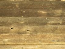 Natural brown barn wood wall. Horizontal planks Royalty Free Stock Photography